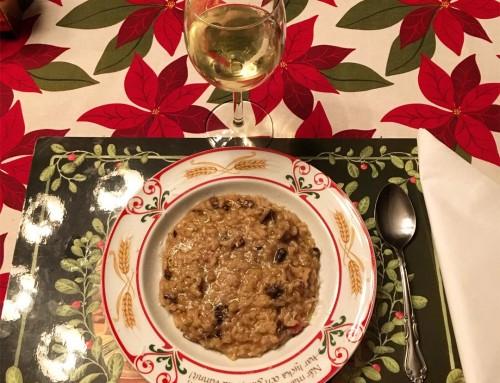 Krämig risotto med svamp och sidfläsk