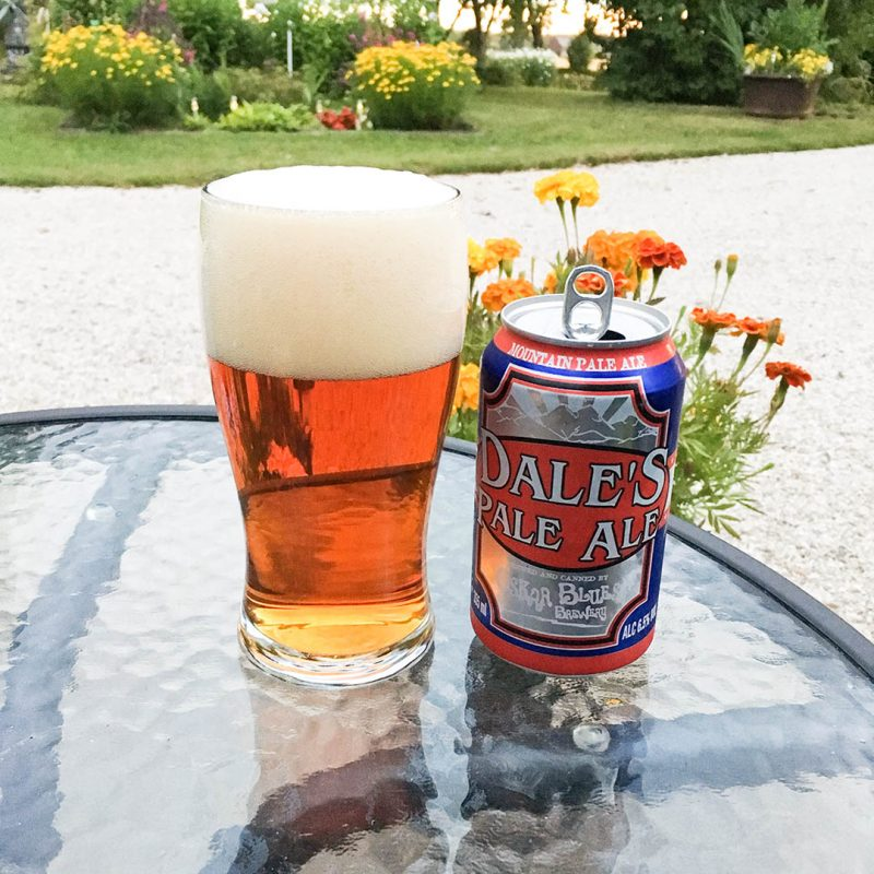 Oskar Blues Dale's Pale Ale.