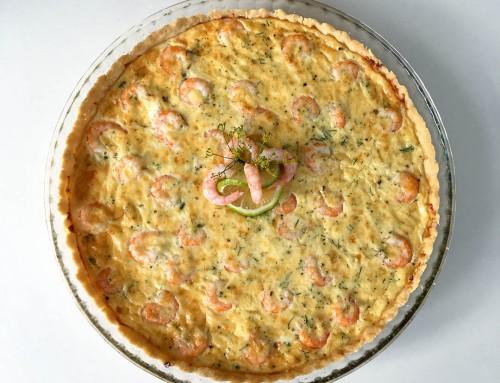 Räkpaj med dill – Recept på paj med skaldjur från havet