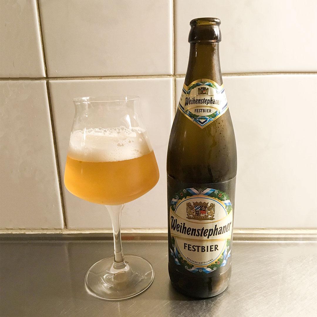 Weihenstephaner Festbier - välbalanserad och god öl.