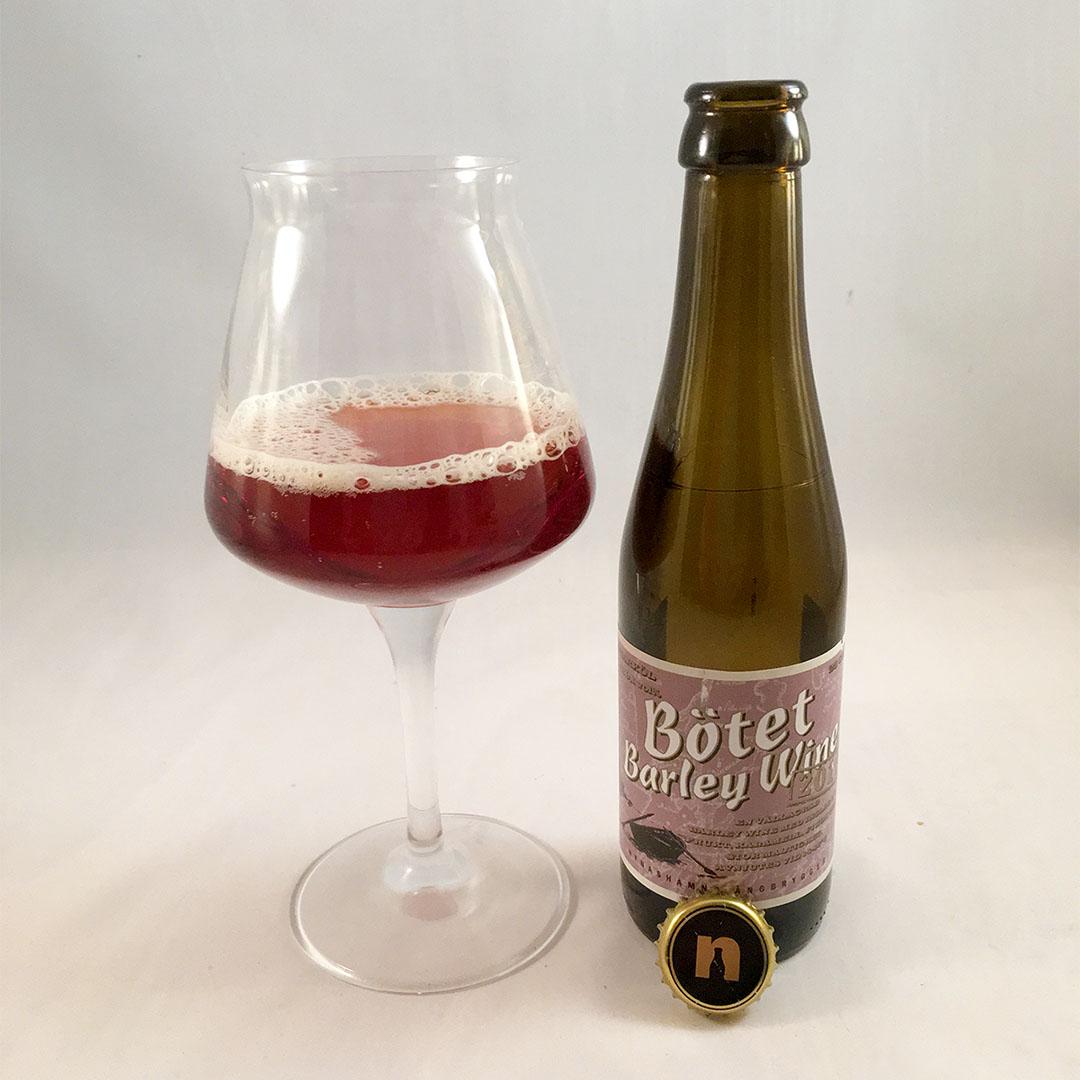 Bötet Barley Wine 2016 från Nynäshamns Ångbryggeri.