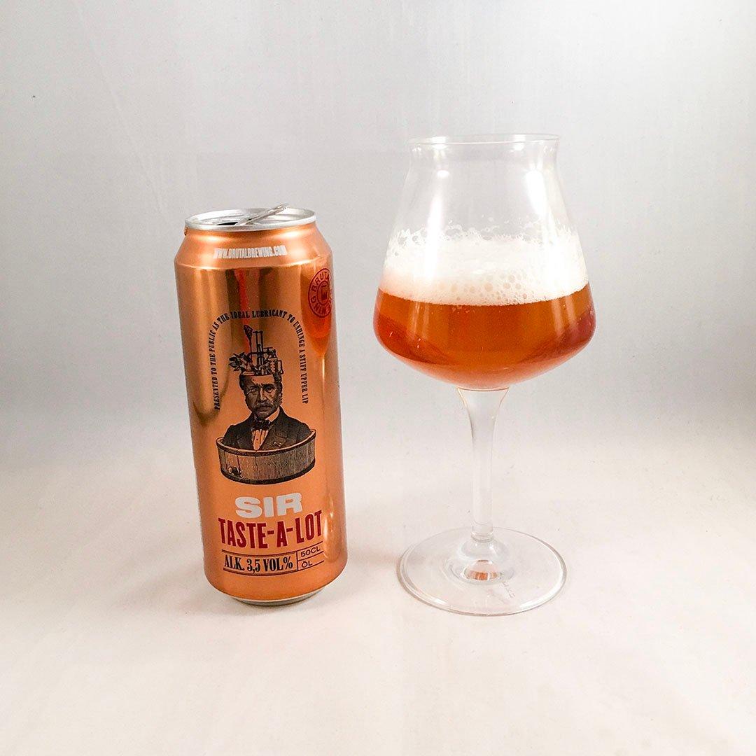 Brutal Brewing Sir Taste-a-Lot är återhållsam folköl.