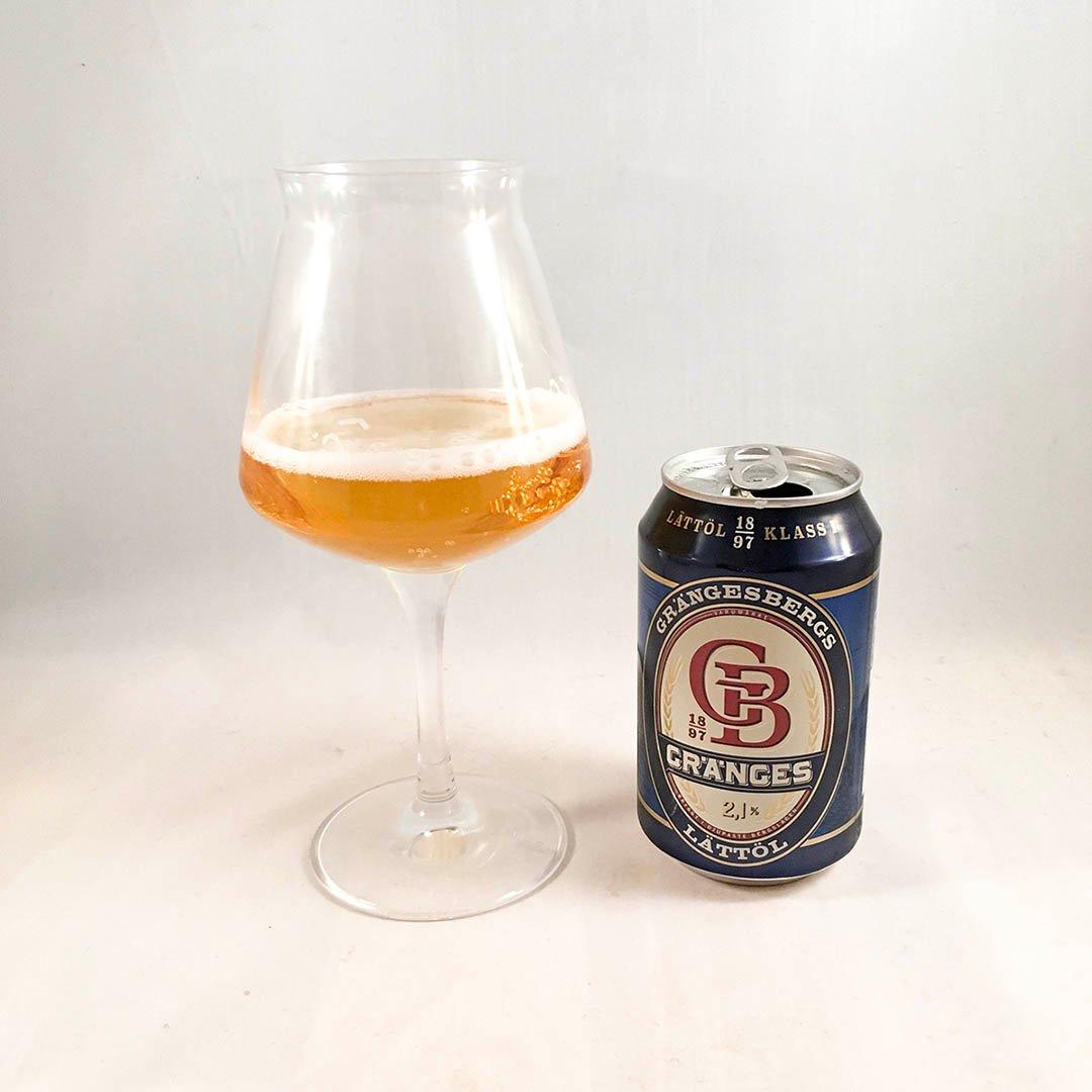 Grängesbergs Lättöl dricker du till måltiden.