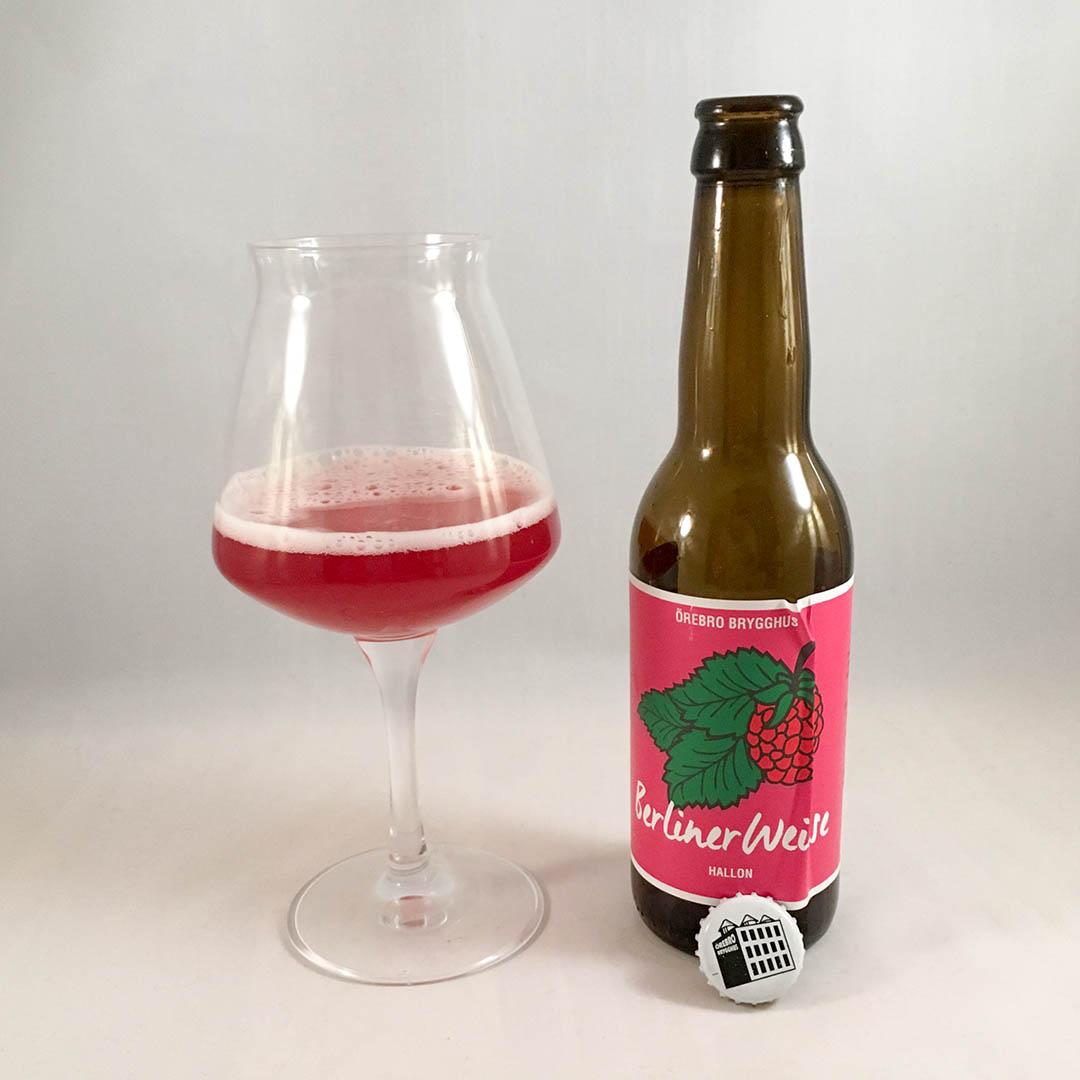 Örebro Brygghus Berliner Weisse Hallon är syrlig öl av stilen berliner weisse.