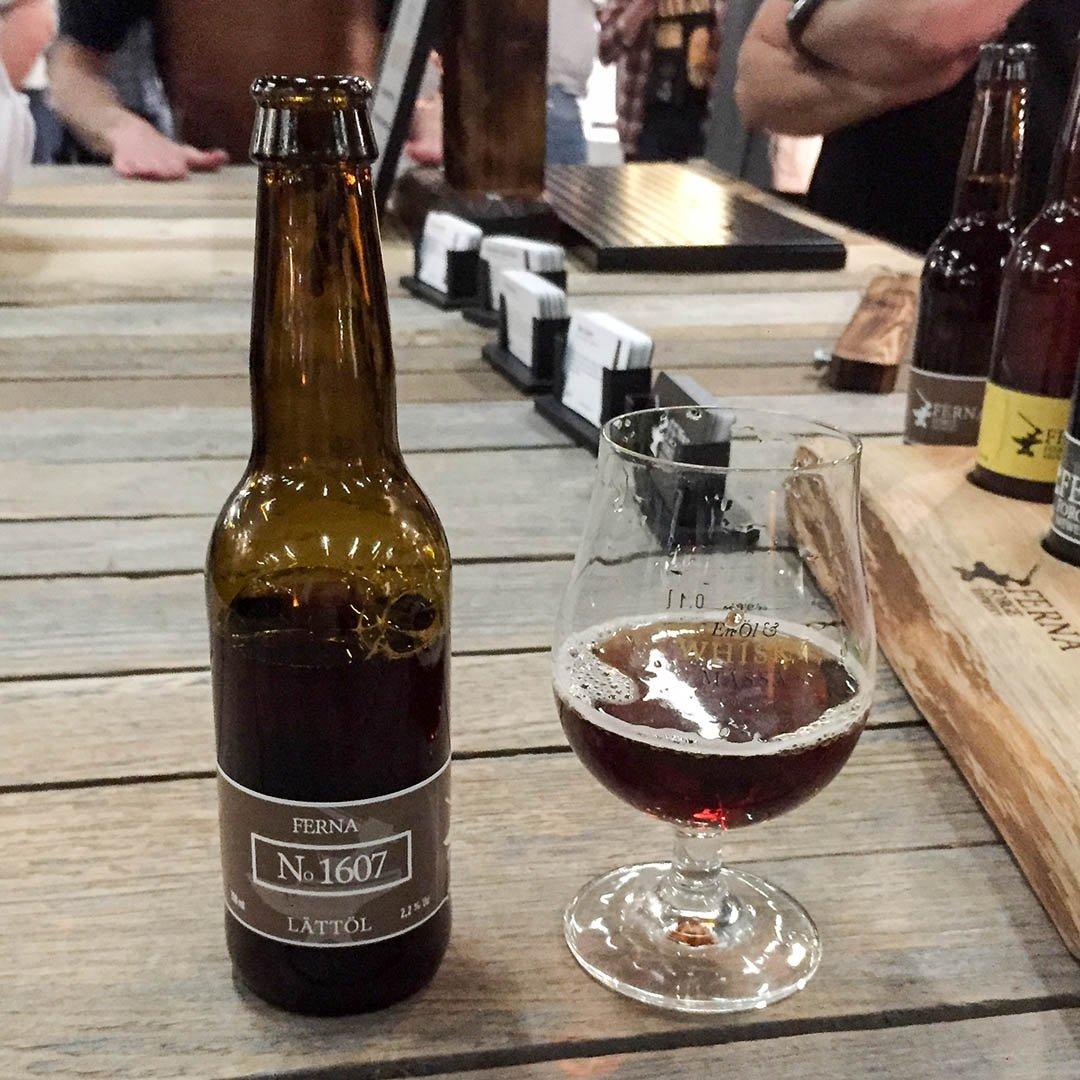 Ferna Forge Brewery No 1607 Lättöl är ölen utan medaljvinst.