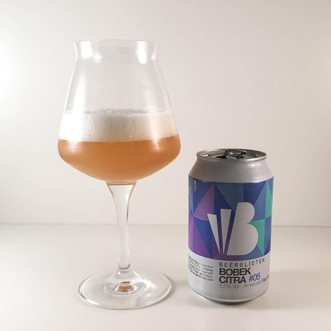 Beerbliotek Bobek Citra #05 kombinerar humle från Slovenien och USA. Hur smakar den egentligen?