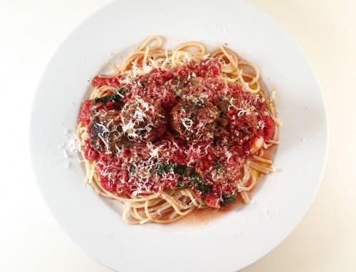 Polpette al Sugo – köttbullar i tomatsås med pasta