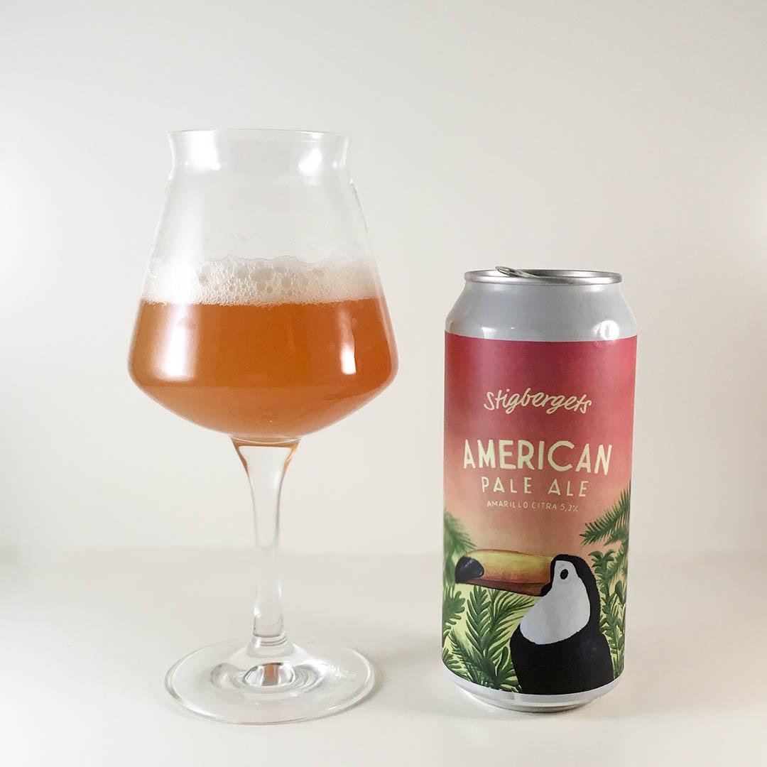 Stigbergets American Pale Ale Amarillo Citra har trevlig doft och smak av tropiska frukter.