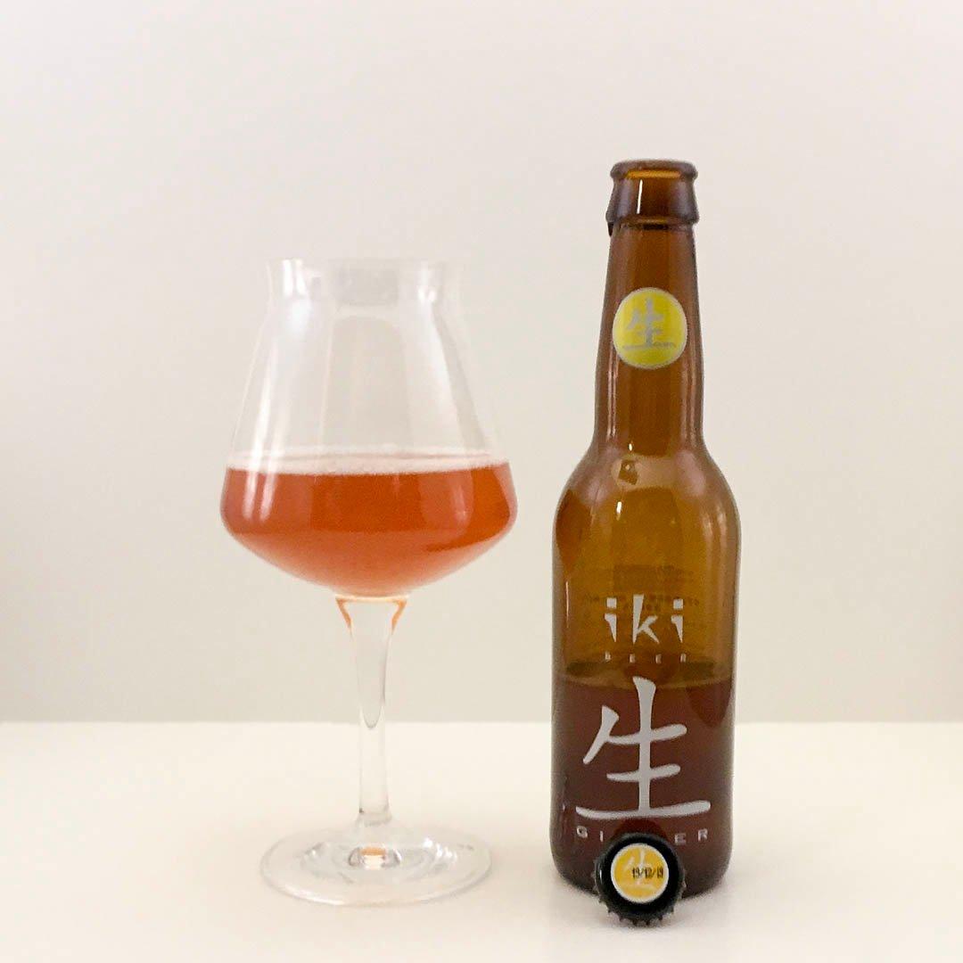 iki Beer Ginger har smak av ingefära och grönt te. Det är asiatiska smaker från Nederländerna.
