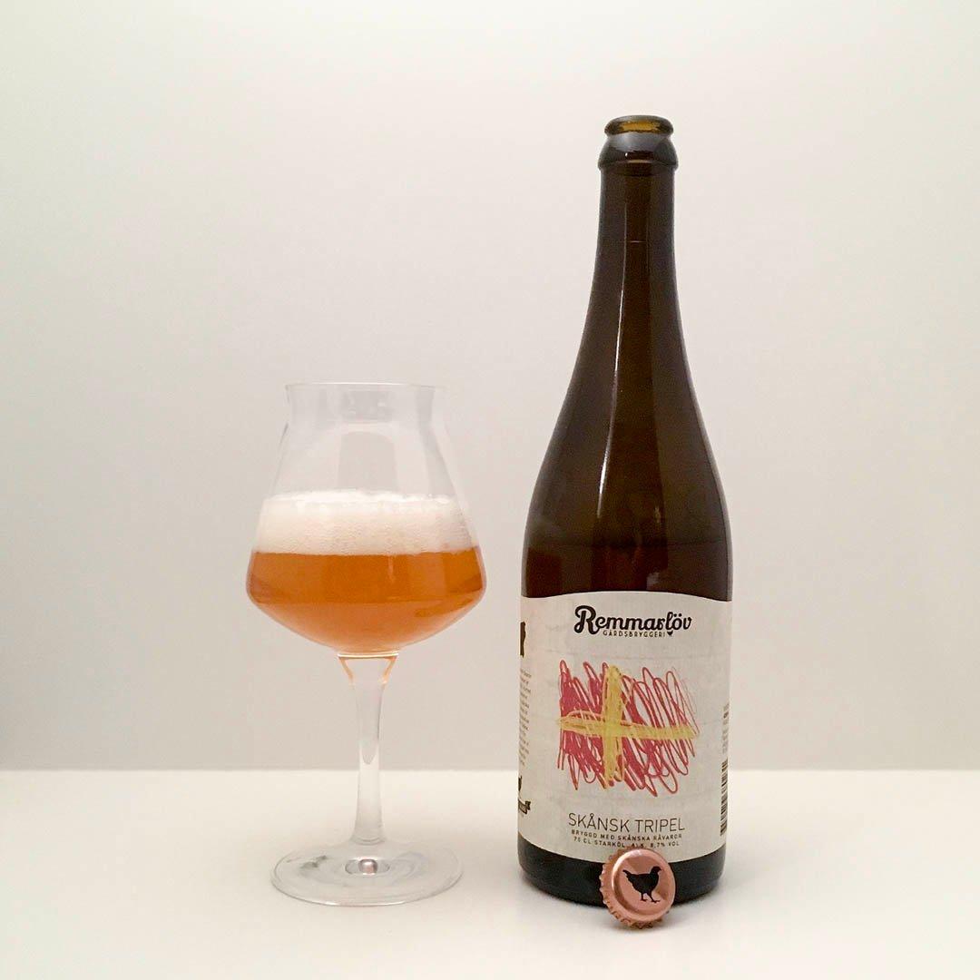 Remmarlöv Skånsk Tripel har doft och smak av Belgien, men den är lite spretig.
