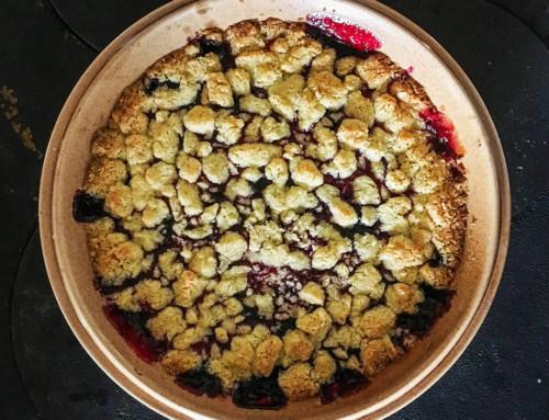 Drottningpaj – Recept på paj med hallon och blåbär