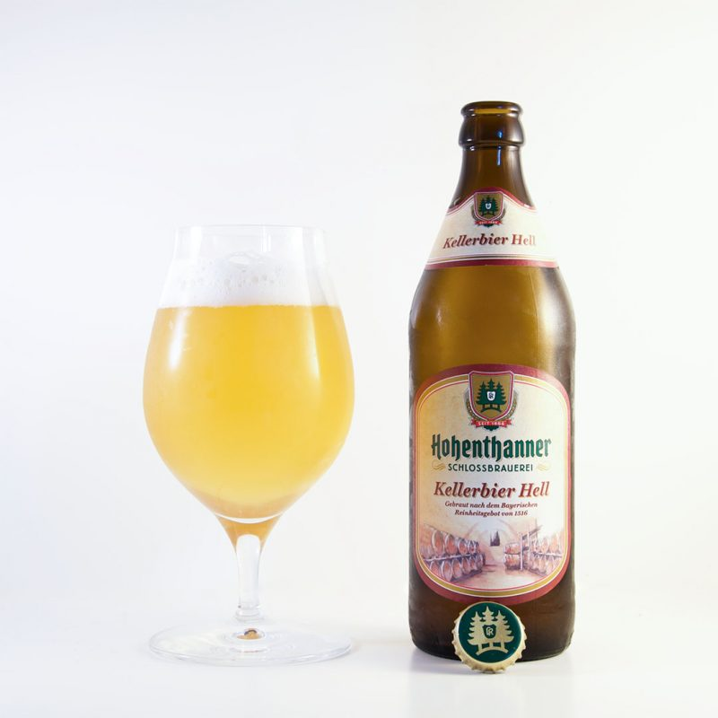 Kellerbier Hell från Hohenthanner Schlossbrauerei passar bäst som måltidsdryck.