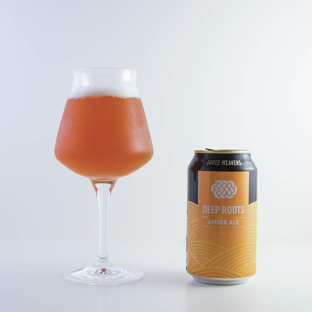 Deep Roots Amber Ale från Three Weavers är helt okej öl, men inte mer än så.