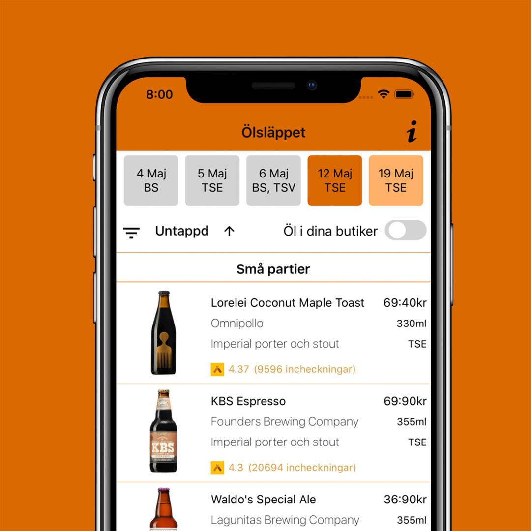 Ölsläppet är appen som har koll på Systembolagets ölsläpp. En ölapp jag vill rekommendera.