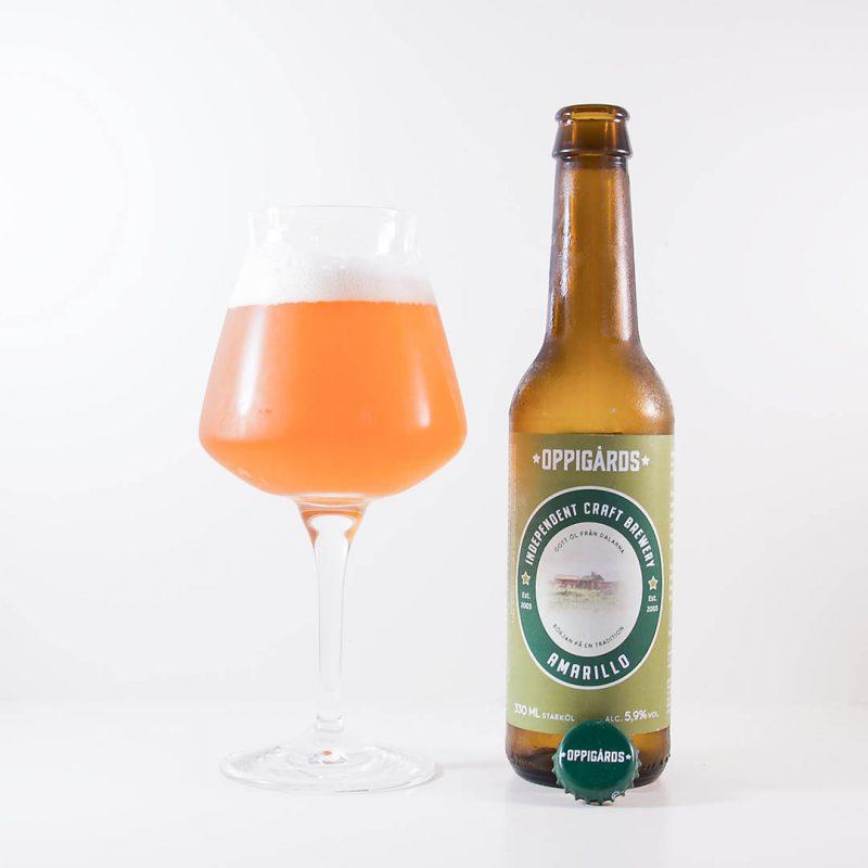 Oppigårds Amarillo från Oppigårds Bryggeri är en trevlig och välsmakande öl.