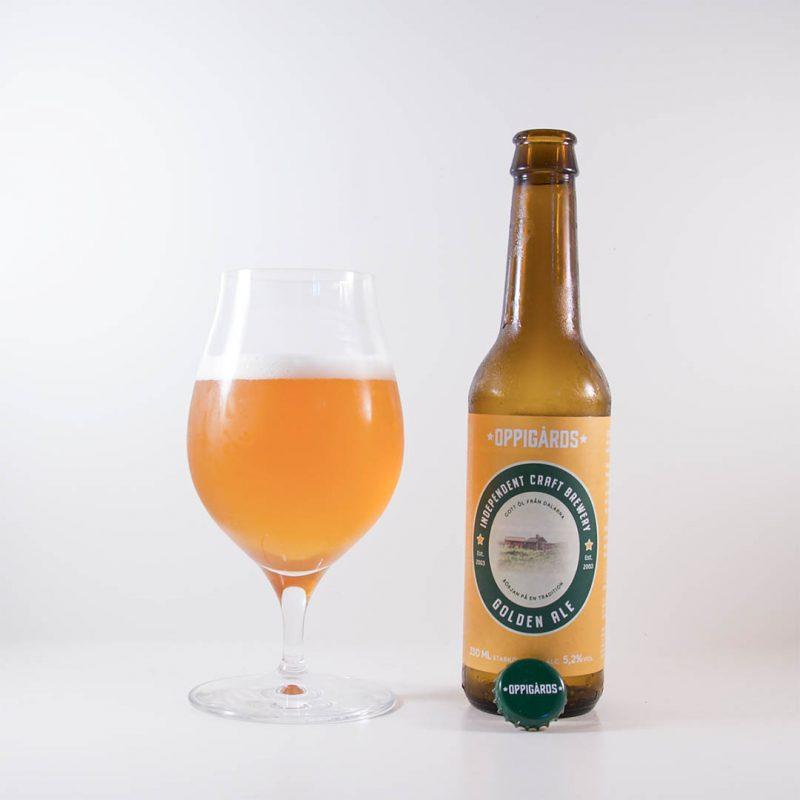 Oppigårds Golden Ale från Oppigårds Bryggeri har en trevlig smak.