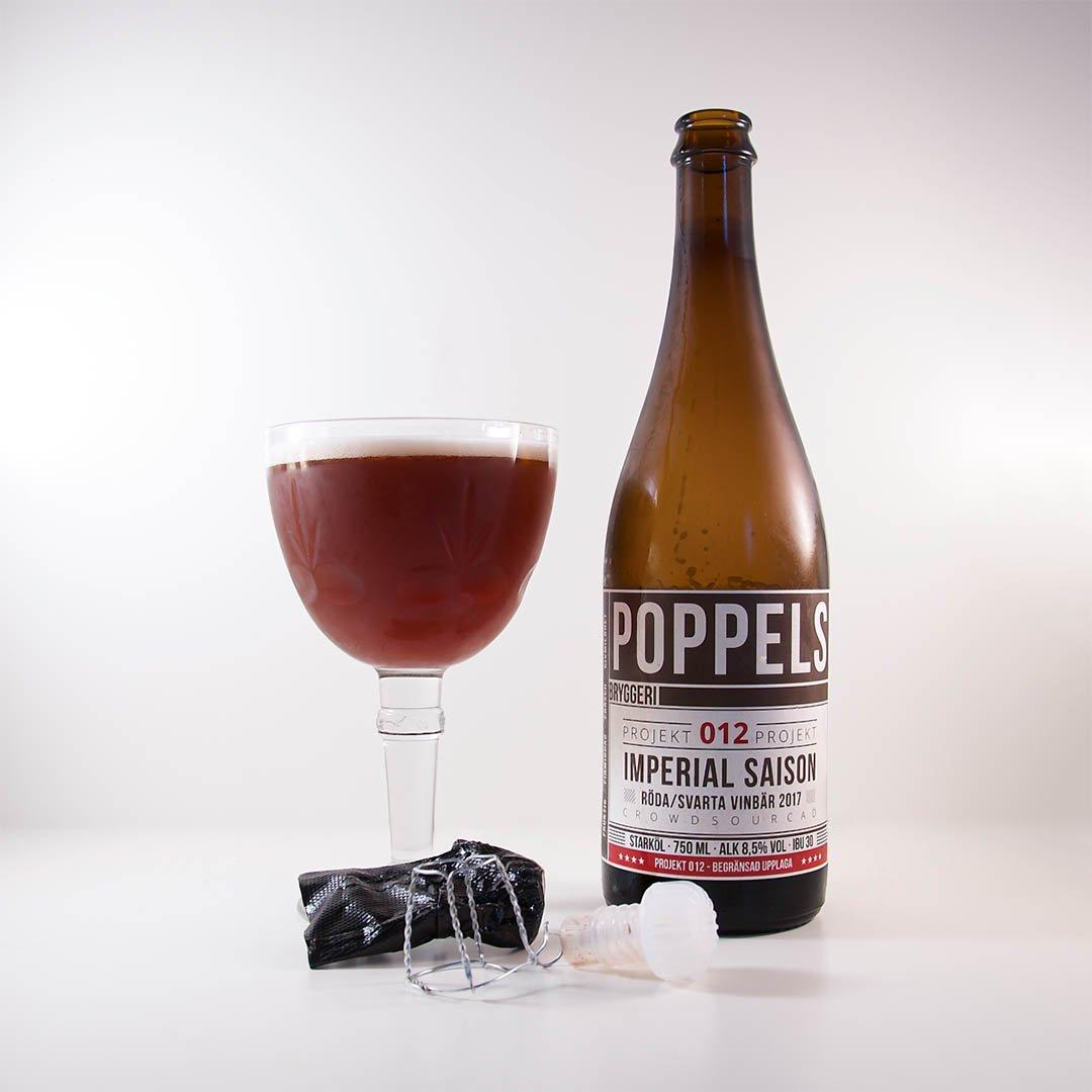 Project 012 – Imperial Saison Red/Black Currants från Poppels Bryggeri glömde jag bort.