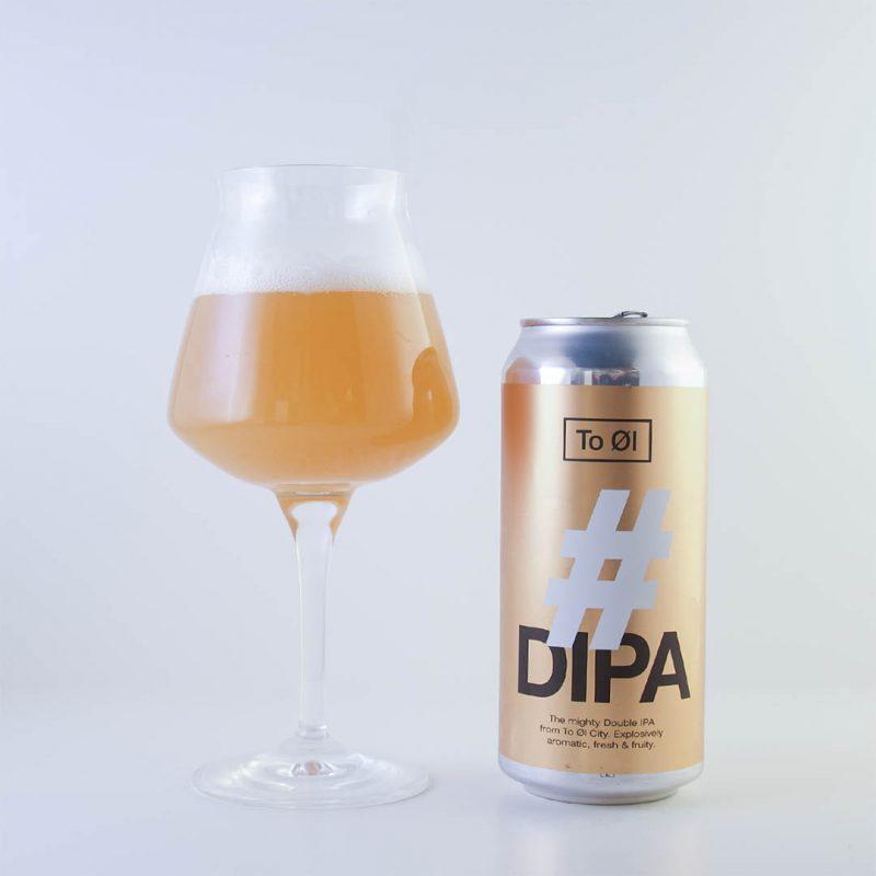 To Øl # DIPA är nästan en bra öl enligt mig. Den har en lite för spritig ton för min smak.