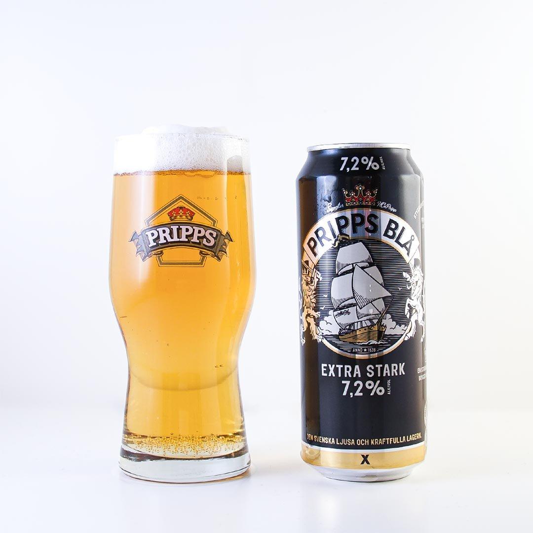 Pripps Blå Extra Stark imponerar inte på mig. Den smakar som en Export med mer alkohol.