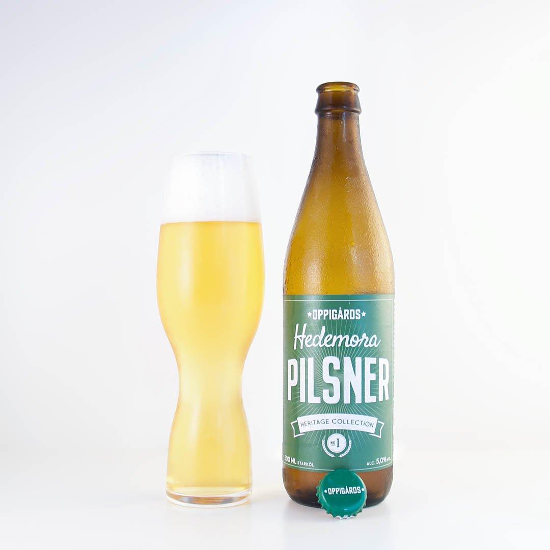 Oppigårds Hedemora Pilsner från Oppigårds Bryggeri är en riktigt bra öl av stilen pilsner!