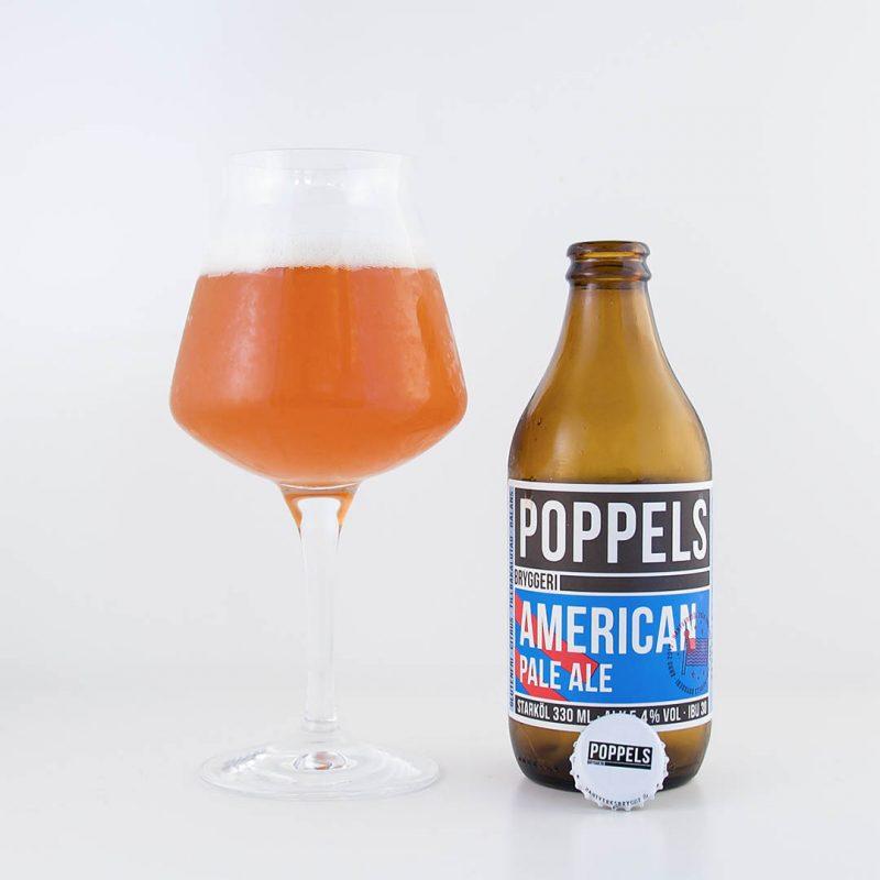 Poppels American Pale Ale från Poppels Bryggeri är en trevlig allroundöl.