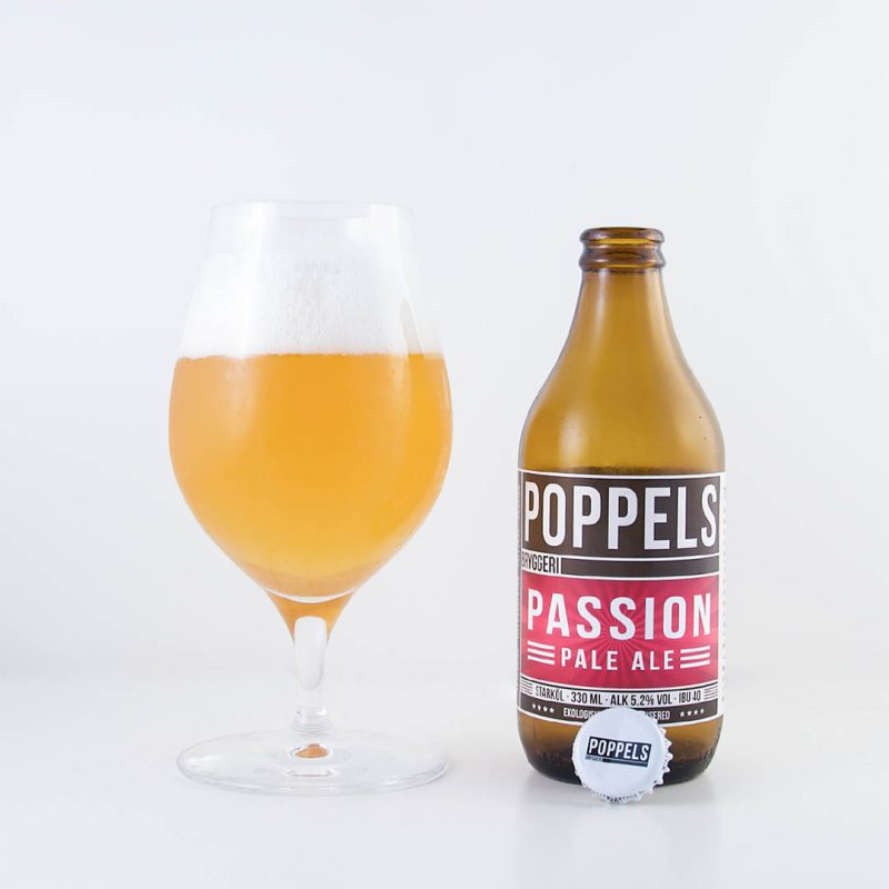 Poppels Passion Pale Ale från Poppels Bryggeri smakar passionsfrukt.